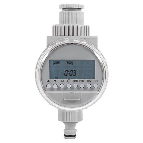 Yosoo Timer tuinslang Solar automatische watermeter controller irrigatie van digitale OEM irrigatie voor tuin grijs