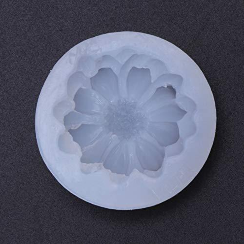 KunmniZ Molde de silicona para decoración 3D de flores hechas a mano, espejo de resina epoxi, para manualidades de Pascua.