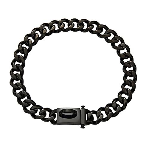 FDSH 19mm de Acero de Titanio Seis Lados de Collar de Perros de Pulido Correa de Perro Gran Cadena de Oro Correa de Perro (Size : M)