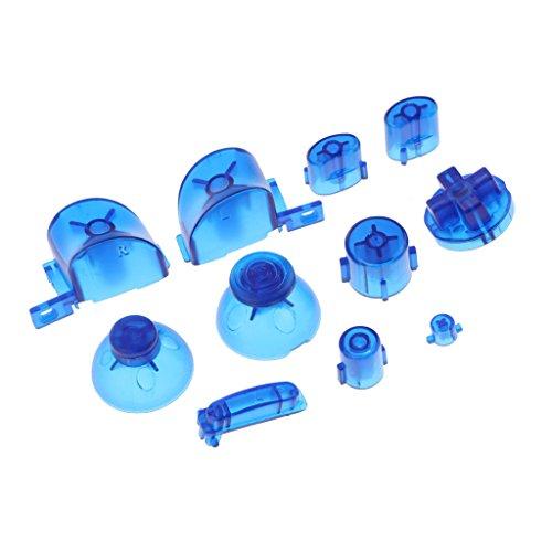 #N/A Boutons De Remplacement ABXY + Baguettes Tigger D Pad Mod Pour NGC Blue