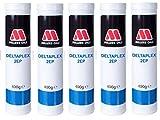 Millers Oils Deltaplex 2EP Grasa NLGI No. 2 Alto Rendimiento de Litio Rojo, Cartucho de 2 kg