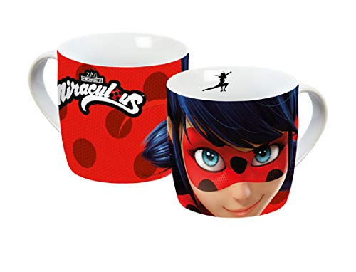 Miraculous 13005 Ladybug Tasse, Porzellantasse, Kaffeetasse, Porzellan