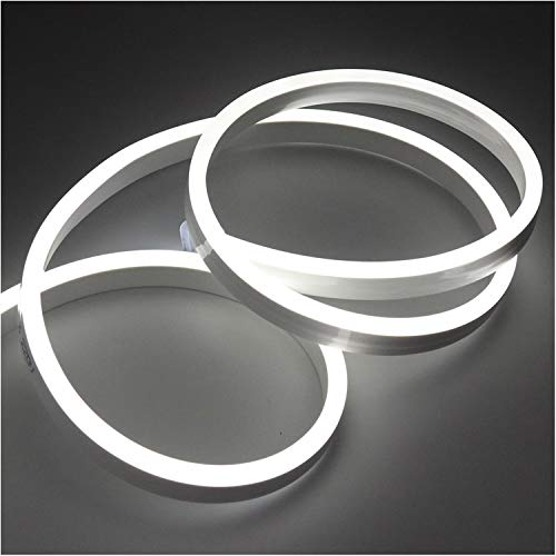 XUNATA 4m Flexible LED Neon lights Blanco Frio, Resistente al Agua 220V...