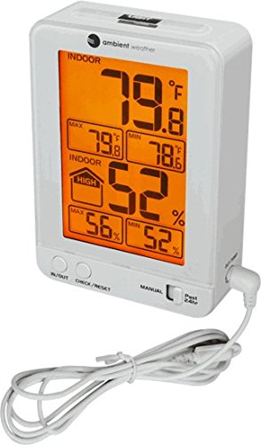 Ambient Weather WS-2063-W-P Indoor Temperature and...