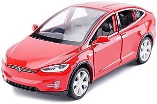 FJFMX Model Car Tesla X Off-Road SUV 1,32 Simulation Die-Casting Alloy Toy Car Model Decoration 15x5.5x4.5CM Model Car 8MX...