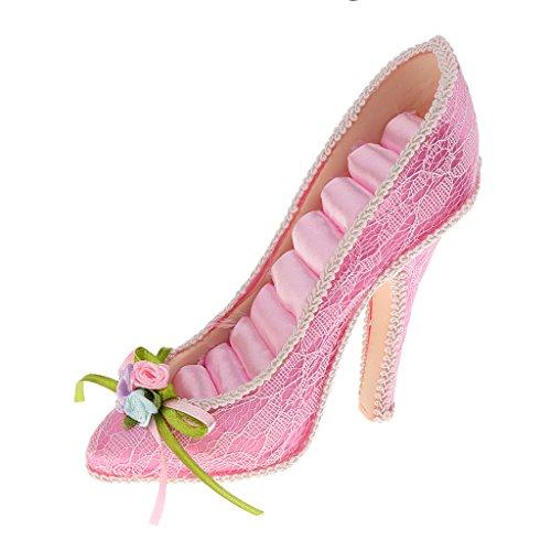 Hellery Dame High Heel Schuh Ring Halter Schmuck Ausstellungsstand Rack Lagerung Geschenk Rosa
