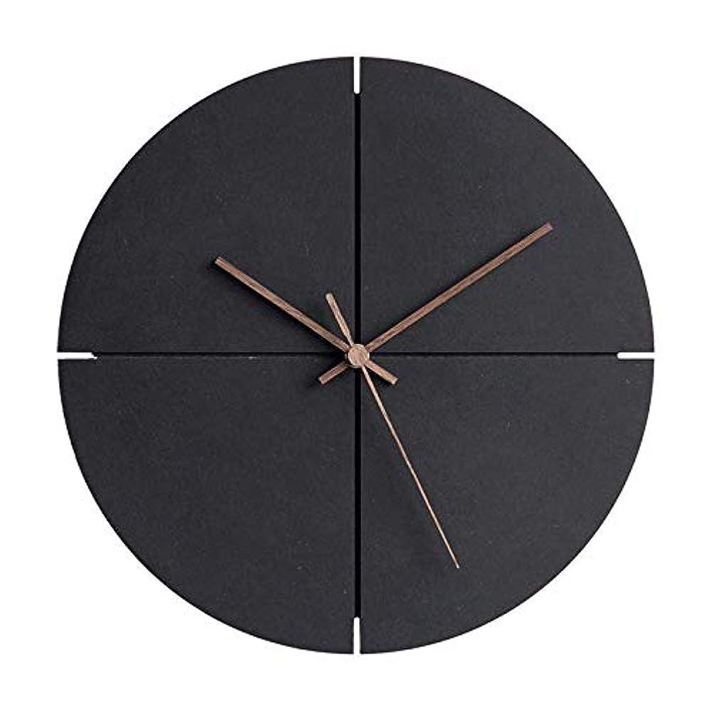 トマト無謀区別モダン木製壁掛け時計 シンプルなデザイン ファッショナブルでスタイリッシュ、ウォールナットヘッド 静かなクォーツメカニズム 環境に優しいMDFと竹製 ホームデコレーション ホームデコレーション