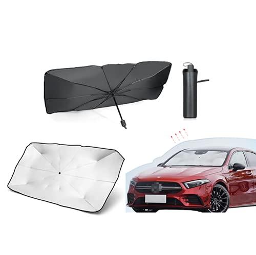 Parasol para Automóvil, Protección Solar Y Parasol Tipo Paraguas con Aislamiento Térmico, Parasol Delantero para Automóvil, Tipo Plegable