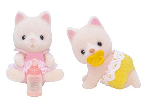 Sylvanian Families - 5082 - Silk Cat Twins Mini muñecas y Accesorios