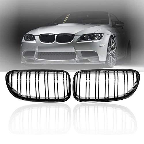 i-Shop Série 3 E92 E93 2010-2014 2 portes grille de protection avant Noir brillant