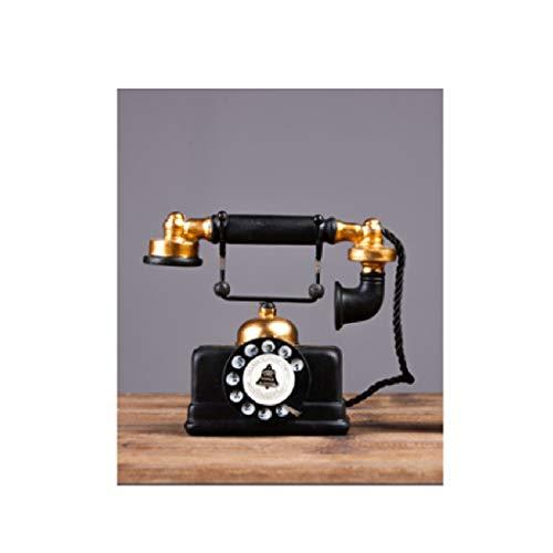 WEIFAN-Home Decorations Schwarzes Telefon der Weinleseverzierung / 10.5 * 17cm / 483g