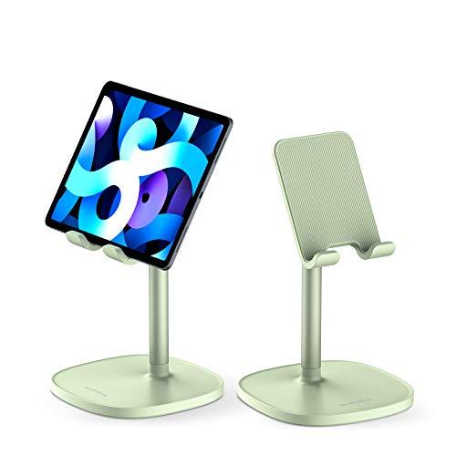 SmartDevil Soporte Tablet, Ergonómico Soporte Móvil Mesa para 4 a 11', Multiángulo Soporte para Movil, Compatible con iPad, Switch, Huawei, XiaoMi, Antideslizante Soporte para Tablet Cama-Verde