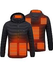 tairong Uppvärmd jacka för män, värmande jackor, 8-zoner uppvärmd jacka USB elektrisk luvtröja jacka vinter varm jacka kappa