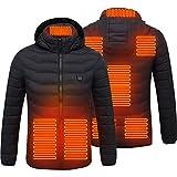 Stecto Chaqueta calefactora, eléctrica de recarga, calentador de cuerpo con 8 zonas de calefacción, chaqueta cálida lavable para acampar al aire libre, senderismo, caza