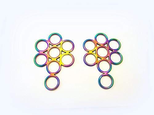 PS Pferdeartikel Regenbogenfarben - Gebissloser Zaum Hackamore Flower - Multicolour Rainbow