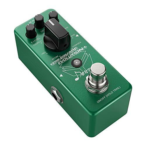 Donner Mini Digital Reverb Pedal 7 Modi, Verb Square Evolution Reverb Gitarre Effektpedal