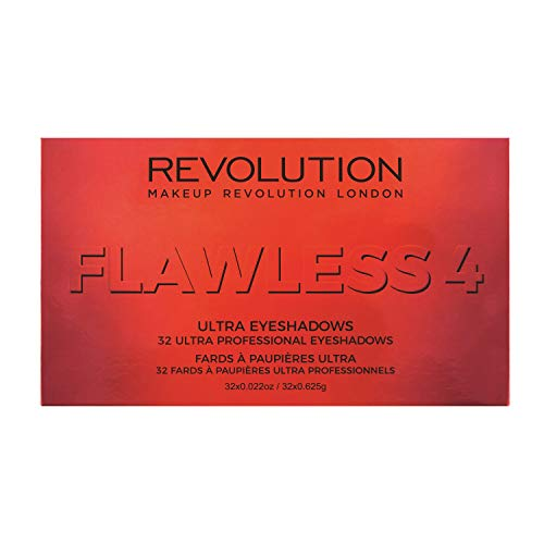 Makeup Revolution London Palette con 34 Ombretti Ultra Professionali, Flawless 4-626 g