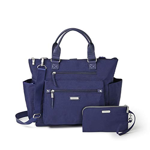 Baggallini New Classic 3-in-1 Convertible Backpack with RFID Phone Wristlet Navy One Size