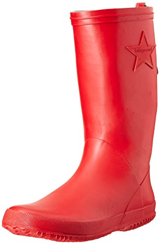 Bisgaard Unisex-Kinder Rubber Boot Star Gummistiefel, Rot (10 Red), 28 EU