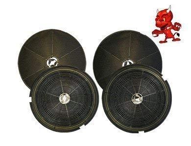 MEGA SPARSET 4 Aktivkohlefilter Kohlefilter Filter passend für Dunstabzugshaube Smeg FLT6, FLT 6
