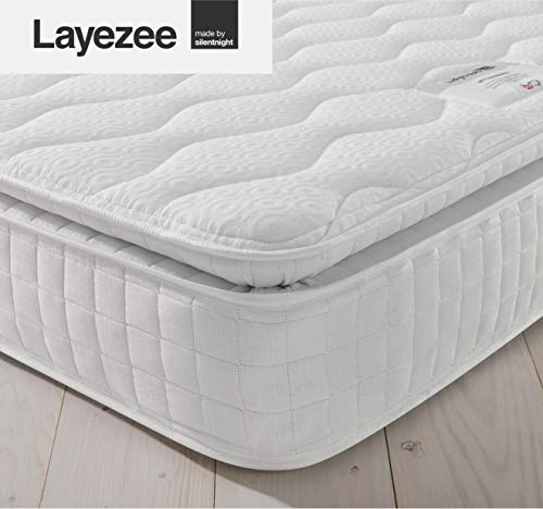Layezee by Silentnight 800 Pocket Memory Pillow Top Mattress - Single
