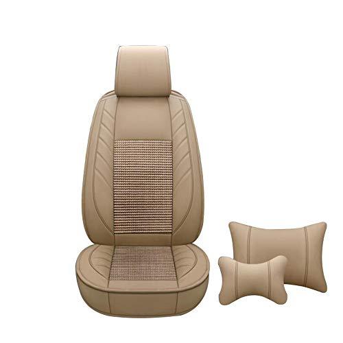 HRFHLHY Auto-Sitzabdeckung, 5 Sitzkissen, vorne und hinten, Kompatibel mit Mercedes-Benz,Beige,E320