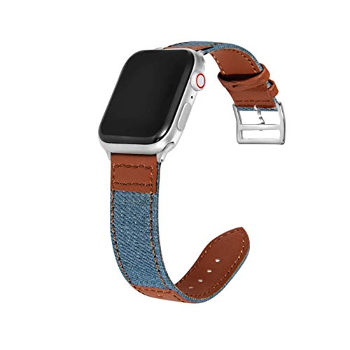Correa de pulsera para apple watch band 42mm 40mm Denim Leather Accesorios de pulsera para iwatch band 38mm 44mm series 4 3 2 1