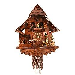 Alexander Taron 492MT Engstler Weight-Driven Cuckoo Clock-Full Size-14 H x 12 W x 7.5 D, Brown