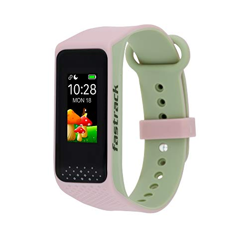 Fastrack reflex 3.0 Unisex activity tracker – Full touch, color display, Heart rate monitor, Dual- tone silicone strap and up to 10 days battery life