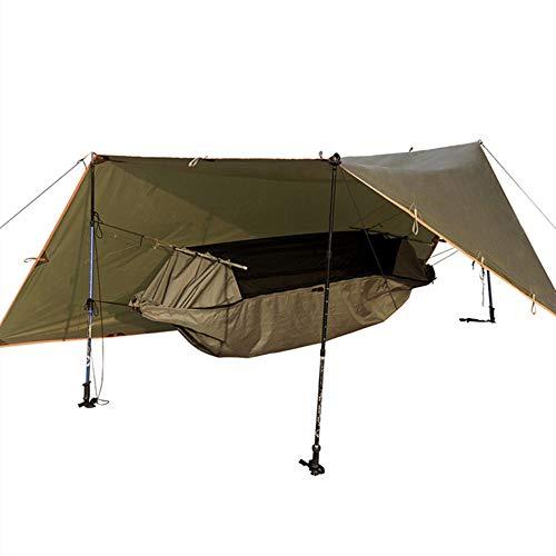 GNSDA Hamaca Camping Doble Individual con Correas para árboles - Supervivencia de mochilero al Aire Libre en Interiores, versión de actualización de Viaje fácil de Montar