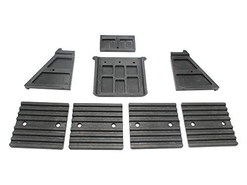 SECURA Kunststoffführungen unten + oben kompatibel mit Bulkston HSB 10-1300 Holzspalter