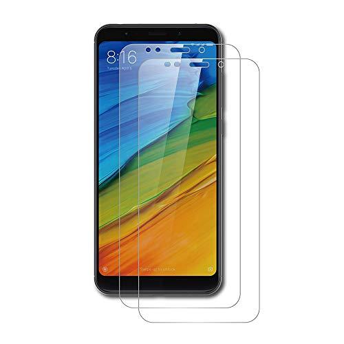AICEK [2 Stück] Xiaomi Redmi Note 5 Schutzfolie, Tempered Glass Bildschirmschutzfolie für Xiaomi Redmi Note 5 Schutzglas Screen Protector Gehärtetem Glas Klar Bildschirmschutz Redmi Note 5 Panzerglas