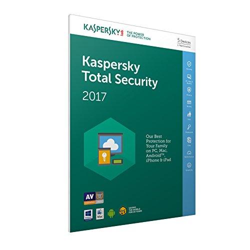 Kaspersky Lab Total Security 2017 Base license 5usuario(s) 1año(s) Inglés - Seguridad y antivirus (5, 1 año(s), Base license, Soporte físico)