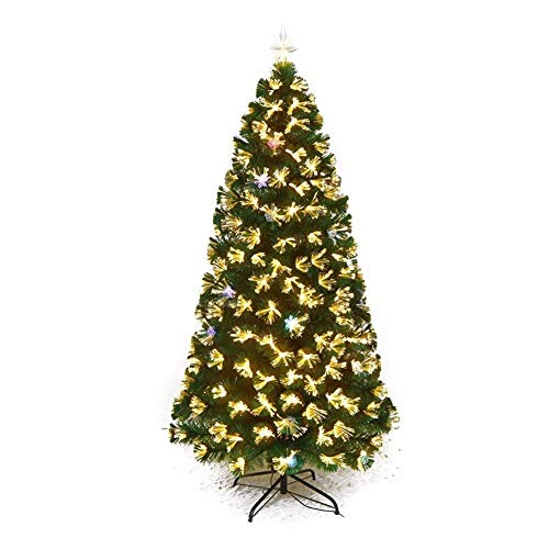 N/Z Home Equipment DYB Christmas Tree Holiday Decoration Trees Artificial Pvc Spruce Hinged Pre-lit Xmas Tree In Ul Certified Led Lights Metal Stand Flame Retardant-green (Size : 4Ft(120CM))