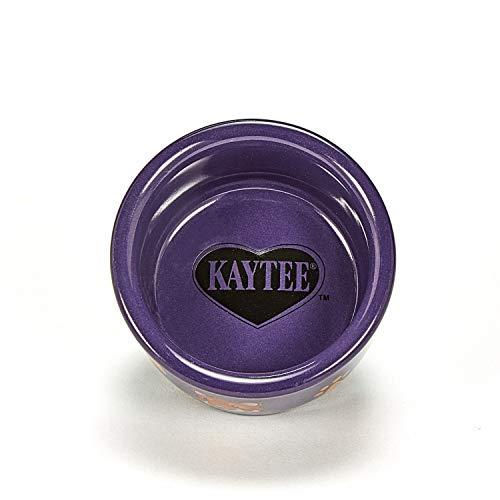 Kaytee Hamster Paw Print Dish, 3 Inch, Colors Vary