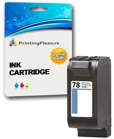 Printing Pleasure Color Druckerpatrone für HP Copier 310 Deskjet 3810 3820 815c 916c 920c 940c 948c Officejet 5110 PSC 2120 700 720 750 900 950   kompatibel zu HP 78 (C6578AE)