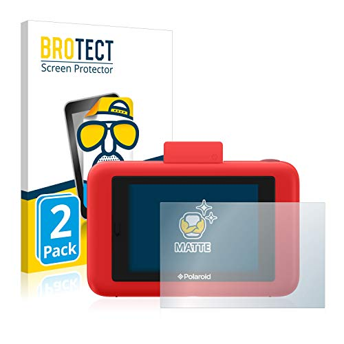 BROTECT Protector Pantalla Anti-Reflejos Compatible con Polaroid Snap Touch (2 Unidades) Pelicula Mate Anti-Huellas