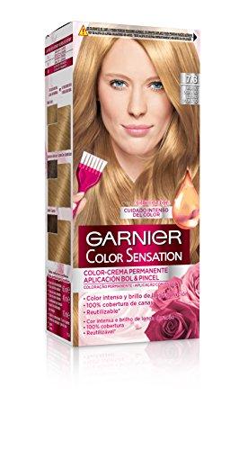 Garnier Color Sensation - Tinte Permanente Rubio Dorado 7.3, disponible en más de 20 tonos