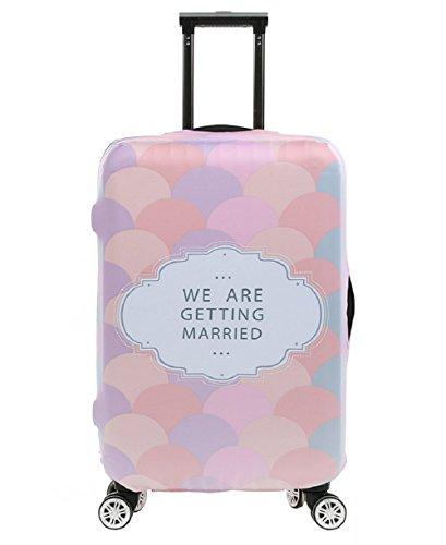 Elastico Cover Proteggi Valigia, Copri Valigia Anti-Polvere Copertura Per Valigia protettore dei bagagli valigia borsa luggage Cover, Romantico (XL)