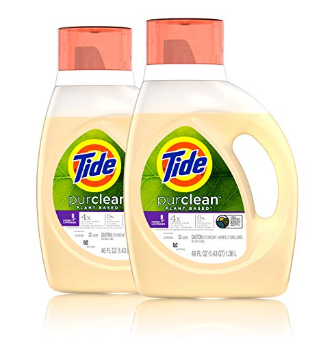 Tide Purclean liquid laundry detergent, honey lavender, pack of 2, 46 fl Ounce each, 2 Count