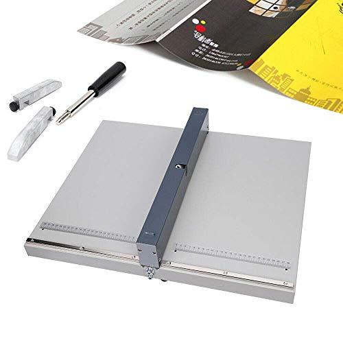 lqgpsx Einstechmaschine für DIN A3 A4 Falzmaschine Papier 46 cm Manuelle Rillmaschine mit Zwei Blöcken