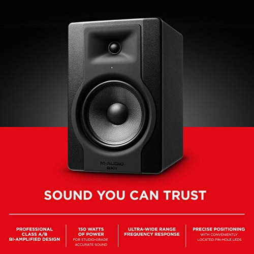 "M-Audio BX8 D3 | Professional 2-Way 8"" Active Studio Monitor Speakers for Music Production and Mixing With Onboard Acoustic Space Control"
