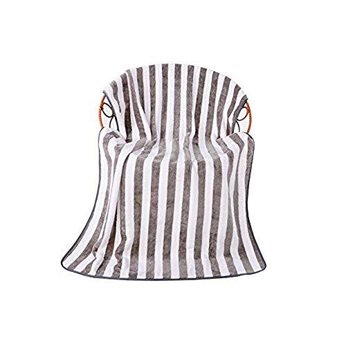 Sipobuy Toalla De Baño De Terciopelo Coral De Secado Rápido, Ligera para Secar, Toalla Suave De Playa Gimnasio De Viaje De Camping, 70x140cm, 2 Unids/Set (Gray)