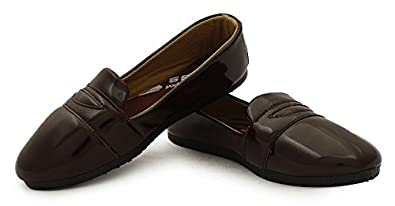 Globalite Women's Casual Shoes Pattent Brown GSC0770
