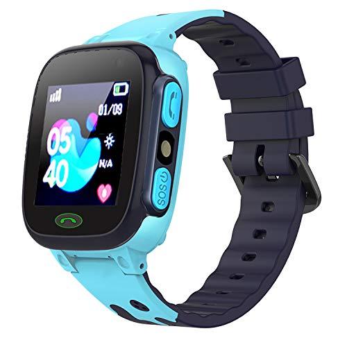 Teléfono Smartwatch para Niños, Pantalla Táctil 1.44 '' LBS Rastreador para Chat de Voz Comunicación Llamada con Cámara SOS Linterna Juego Relojes Niños Niñas Regalo Compatible con Smartphones