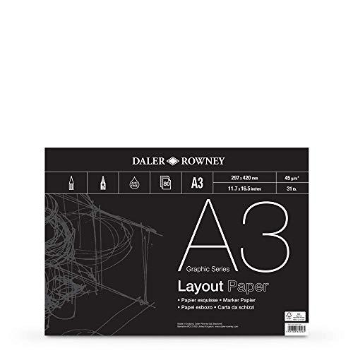 Daler-Rowney DR Layout-Block, A3, 80 Blatt, GDALAYPA3