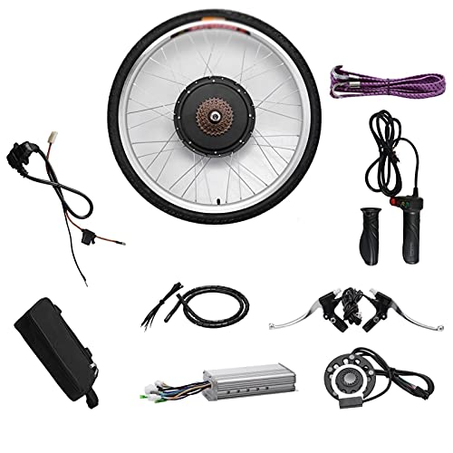 SKYWPOJU Kit de conversión de Bicicleta eléctrica de 36 V / 48 V Buje de Motor Motor Delantero/Trasero de 26' (Color : Rear Wheel, Size : 36V 500W)