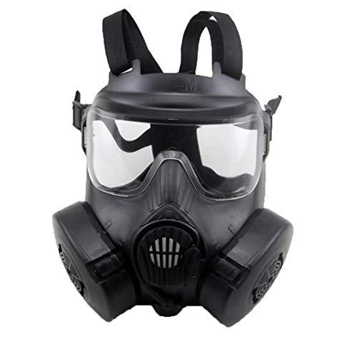 SHENXX Máscara Respiratoria, Máscara De Gas, Máscara para Montar Al Aire Libre, Máscara De Aislamiento, A Prueba De Polvo, A Prueba De Gas, Máscara A Prueba De Espuma,Negro