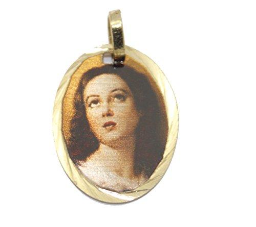 Diamantados of Florida La Purisima Concepcion - Colgante de Medalla Chapado en Oro de 14 K con Cadena de 45 cm