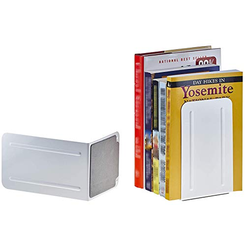 Acrimet Premium Metal Bookends (Heavy Duty) (White Color) (1 Pair) Photo #5